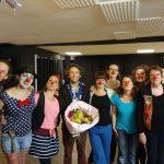 photo souvenir, et magnifique bouquet - Citrons et Nez de clown inclus - pour Yann TERRIEN