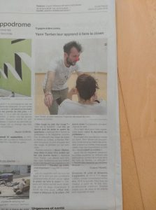 article ouest france stage clown